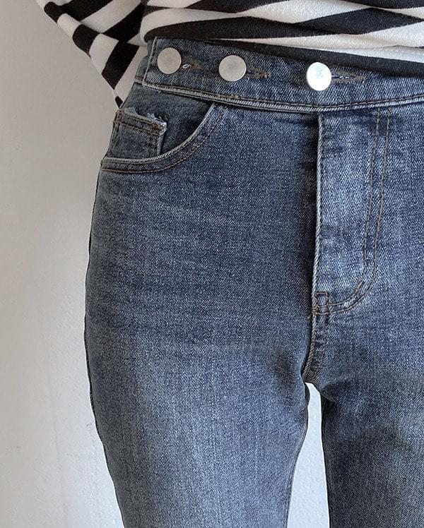 Winter straight denim pants