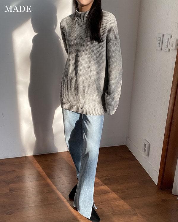Twisted wool half polar knit