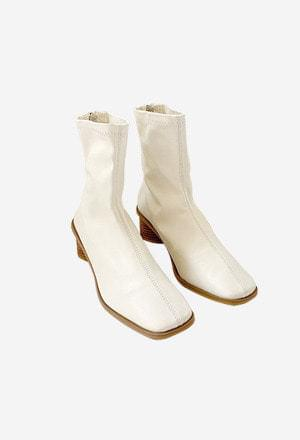 Square wood ankle ankle boots 靴子