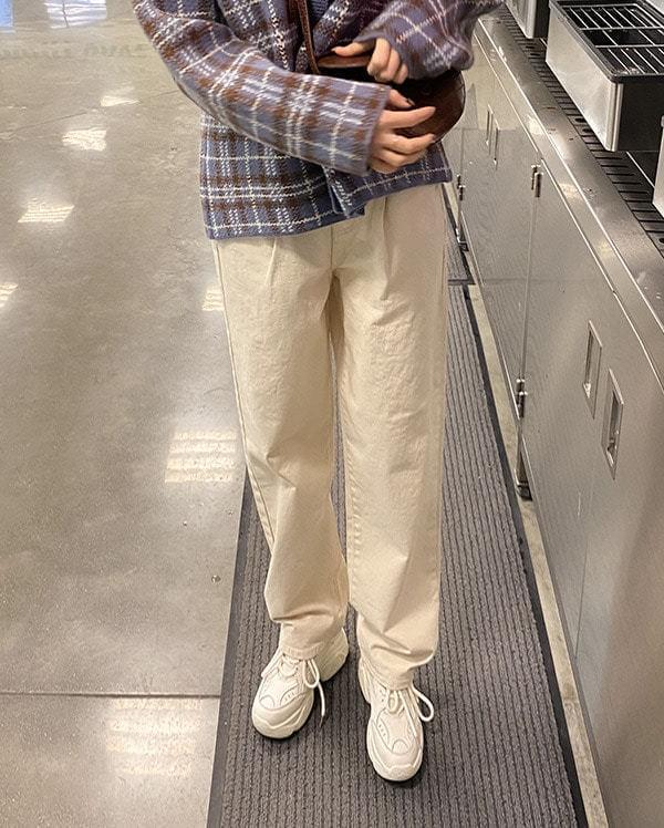Natural boyfit cotton pants