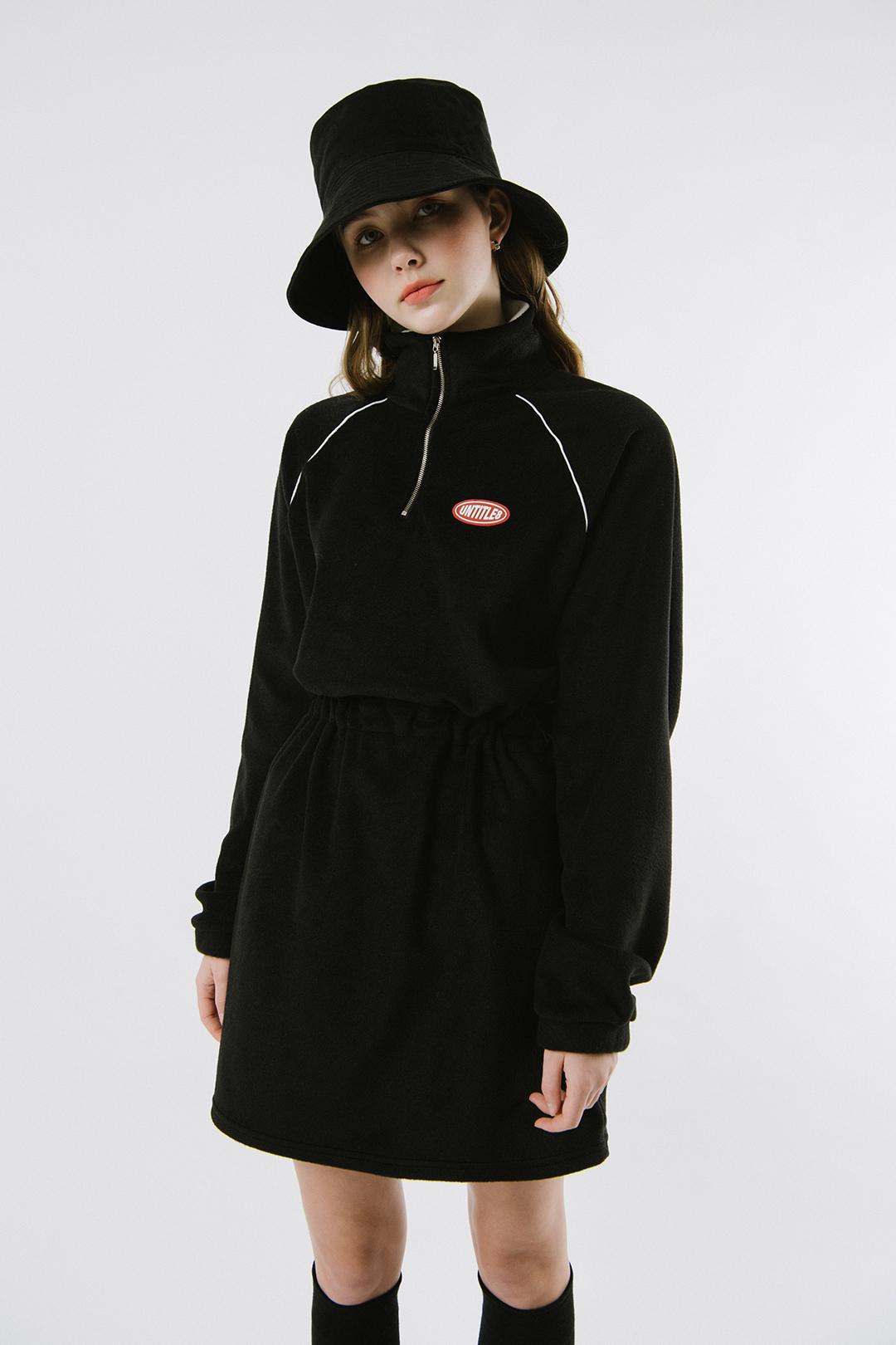 Fleece High Neck Dress