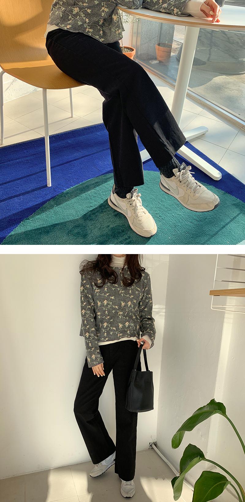Daily wide cotton pants_U