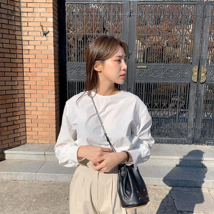 Plum button blouse