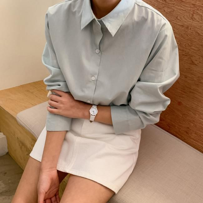 Unbalanced Daily Cotton Shirt