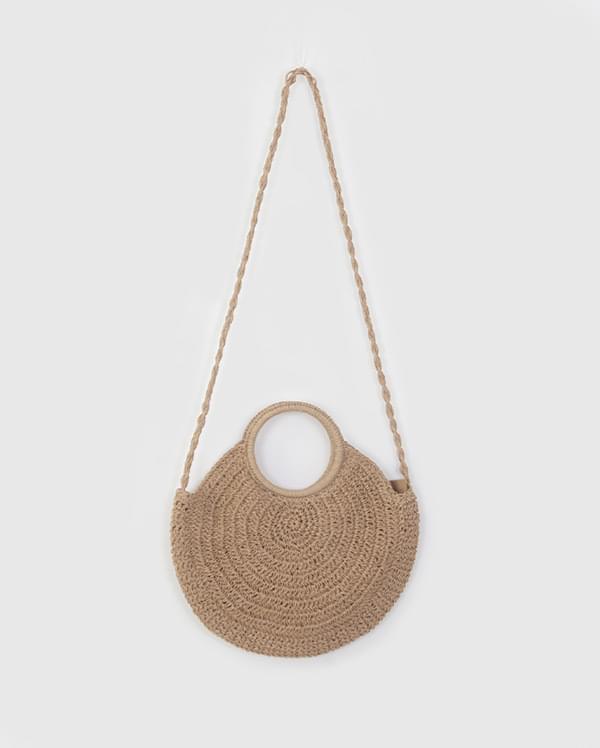 Round Half Rattan Bag