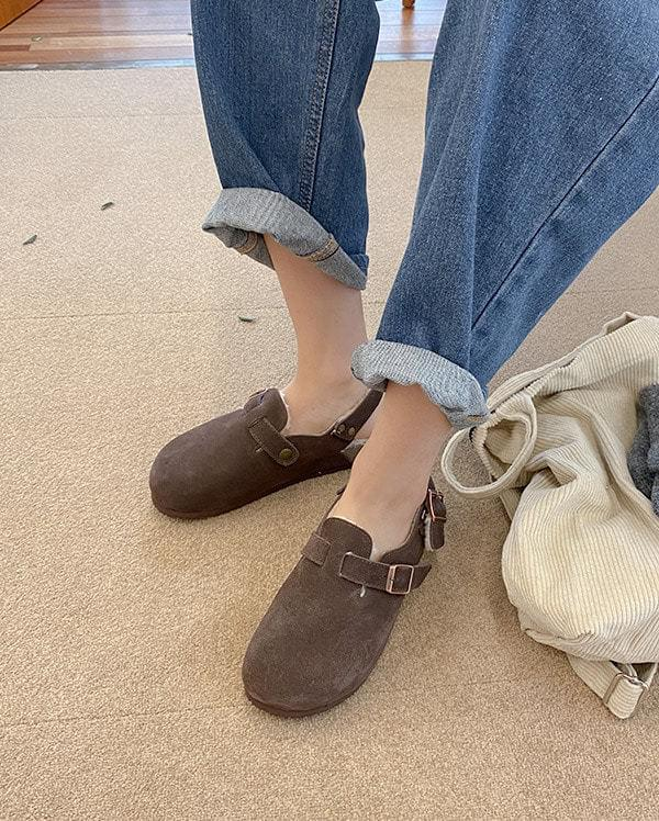 Boston suede slingback shoes