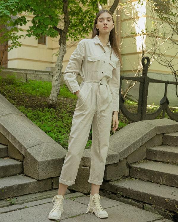 Workwear Cotton Jumpsuit