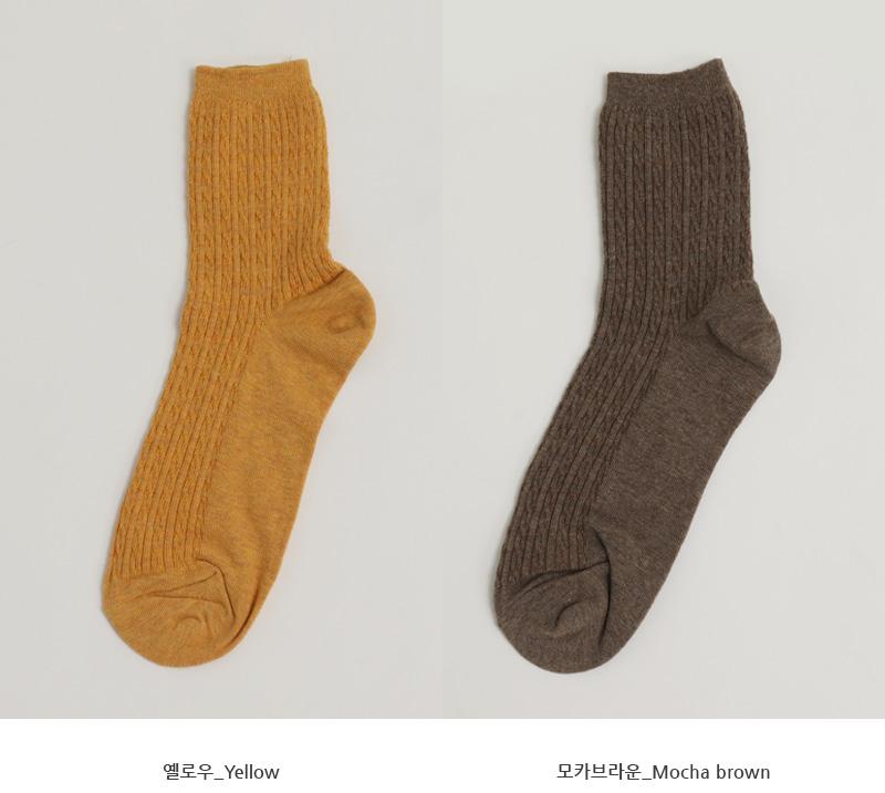 Slim cable daily socks_C