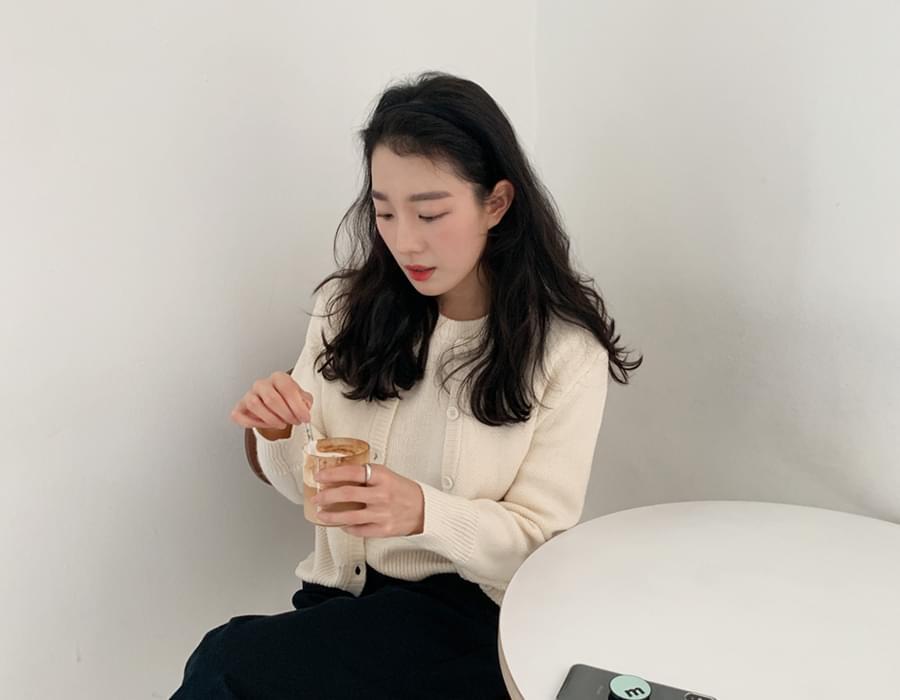 Soft knit cardigan set_C
