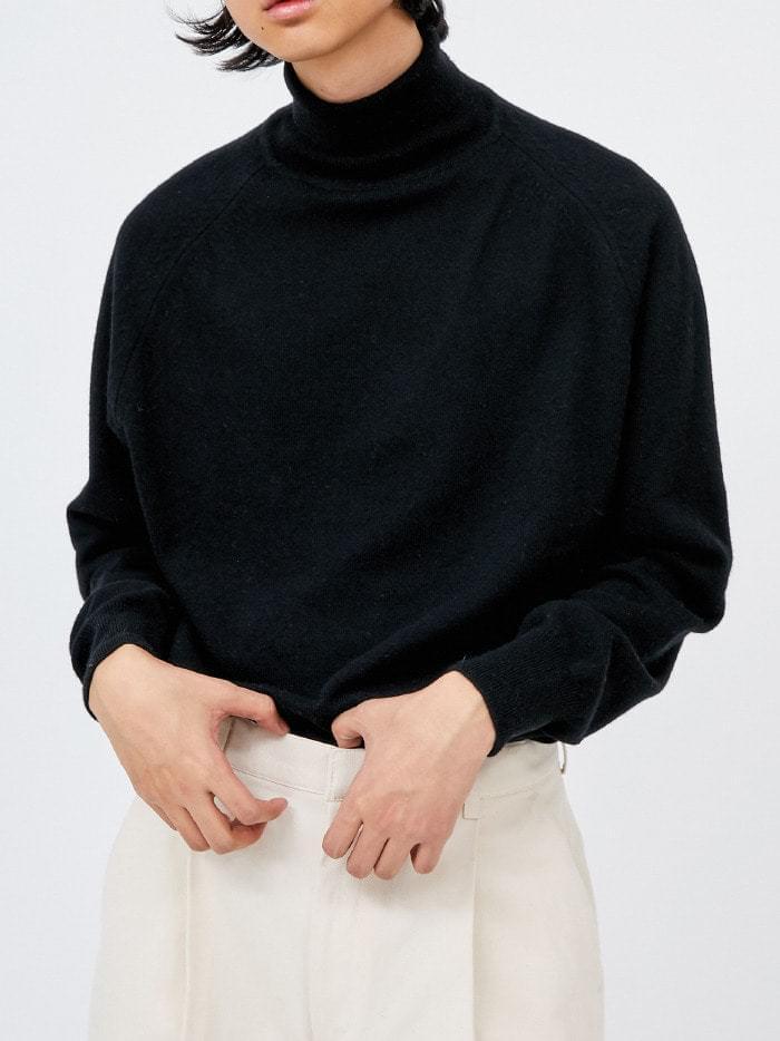 merino wool raglan turtleneck knit (2 color) - woman