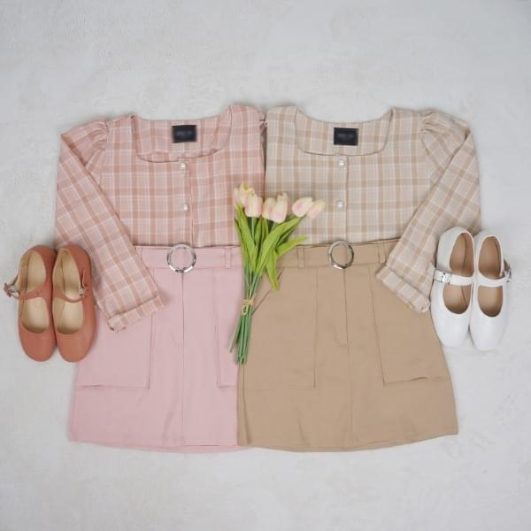 Rurin Pearl Square Neck Blouse