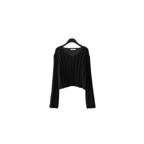 bold knitting V-neck knit