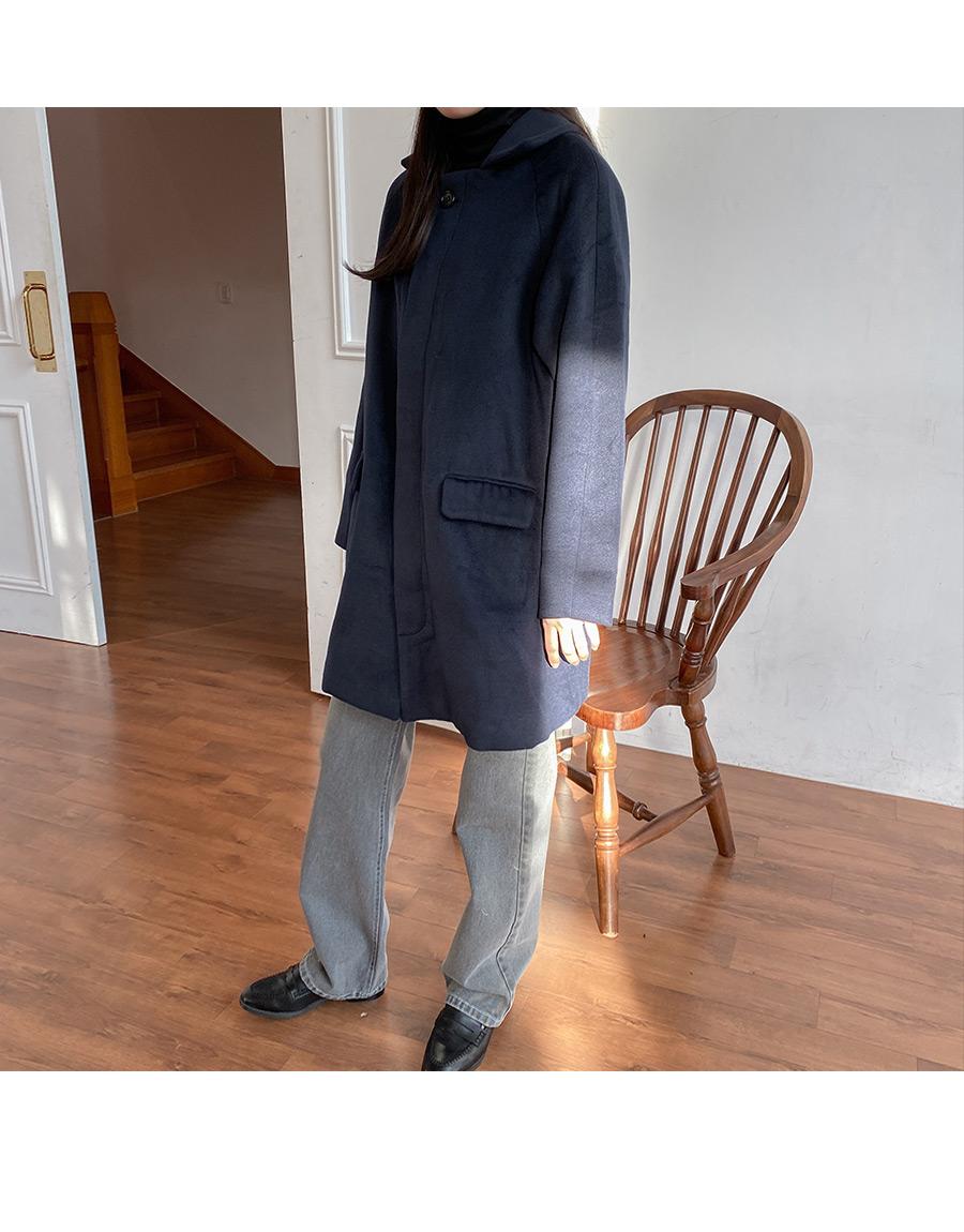 Hidden wool single coat