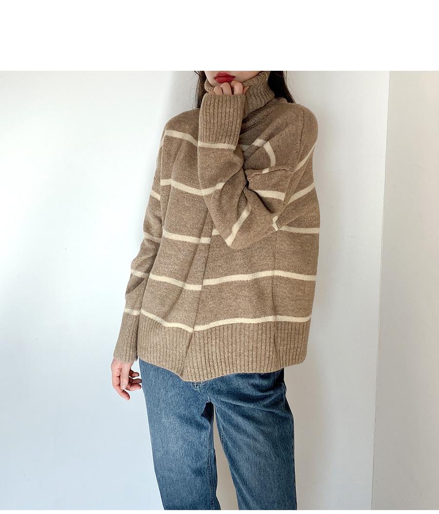 Tintin striped high neck knit