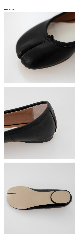 Tabi leather flat shoes