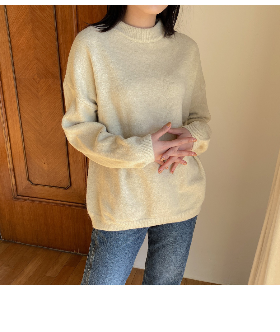 Cotton candy round knit