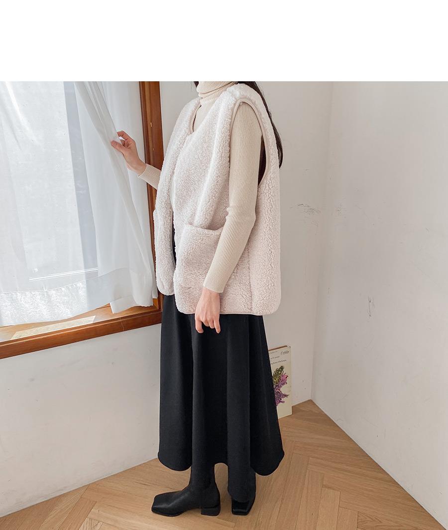 Salle Wool Long Skirt