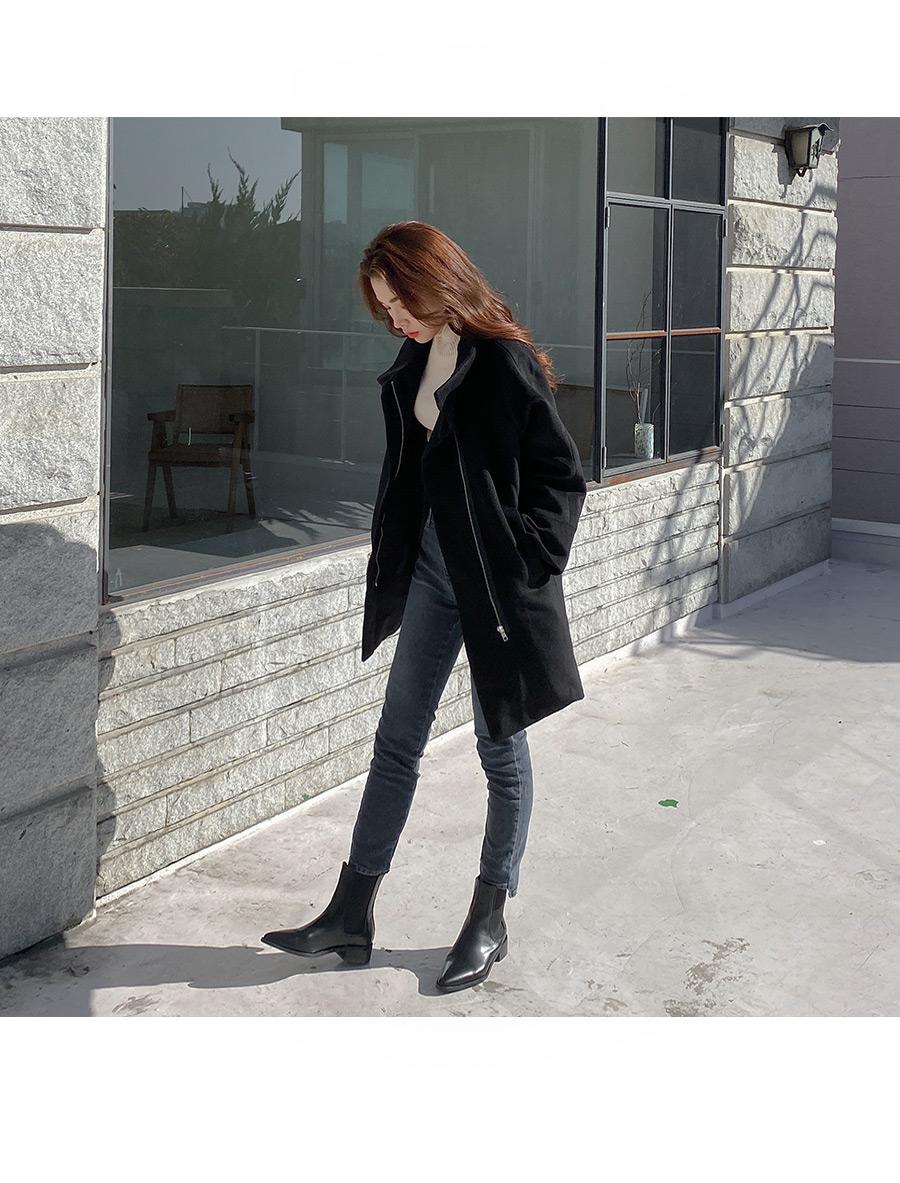 Warmer wool half coat