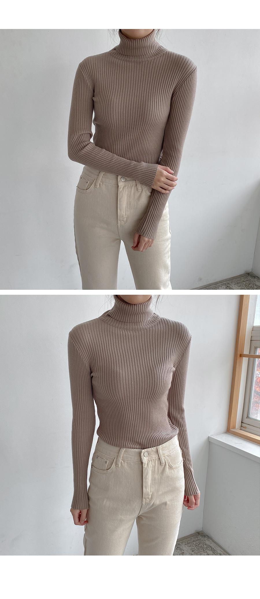 Core ribbed polar knit T-shirt