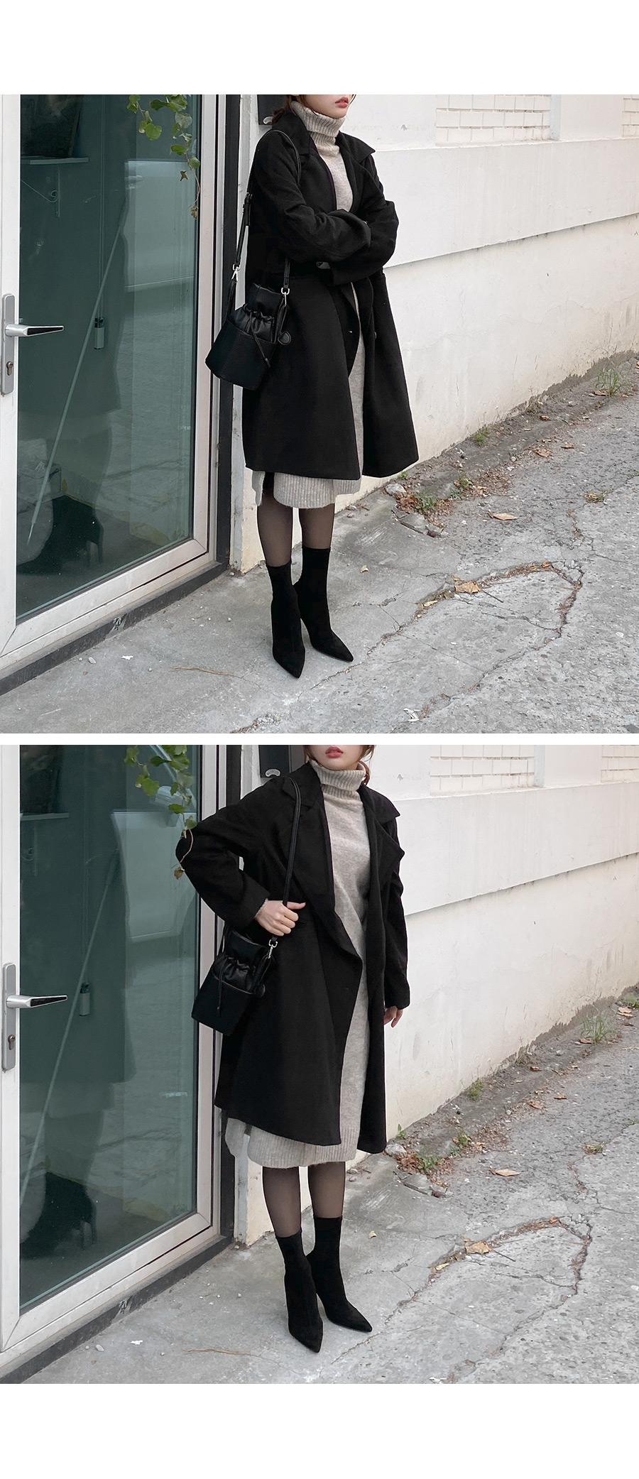 Nero pocket raglan single coat