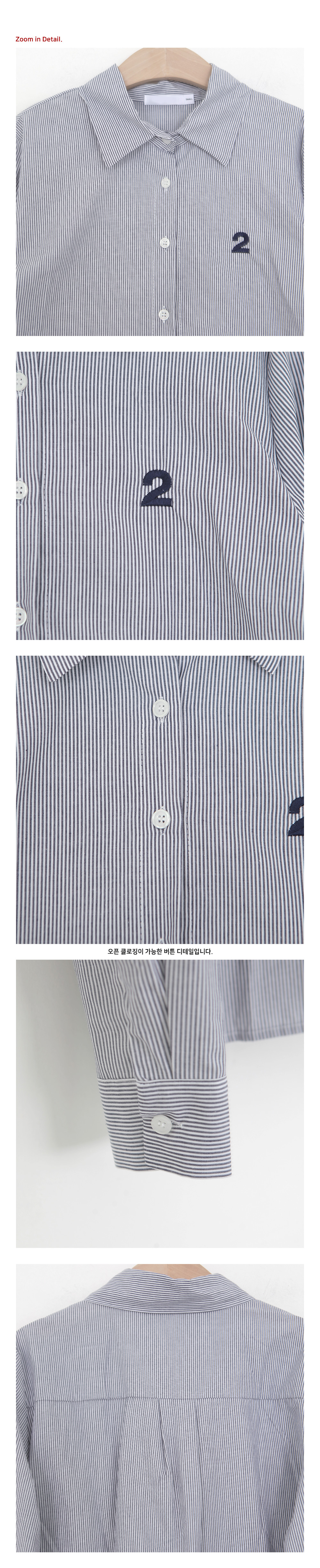SALE) 2 embroidery point cotton shirts