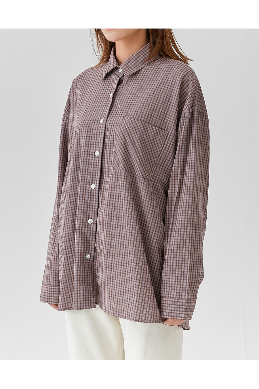 Mas Overfit Check Shirt