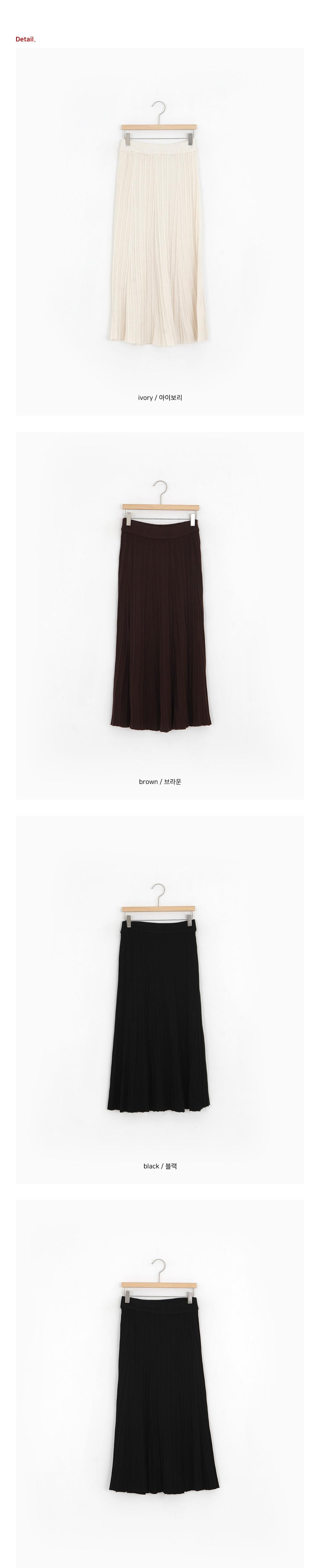 Shine pleated long skirt
