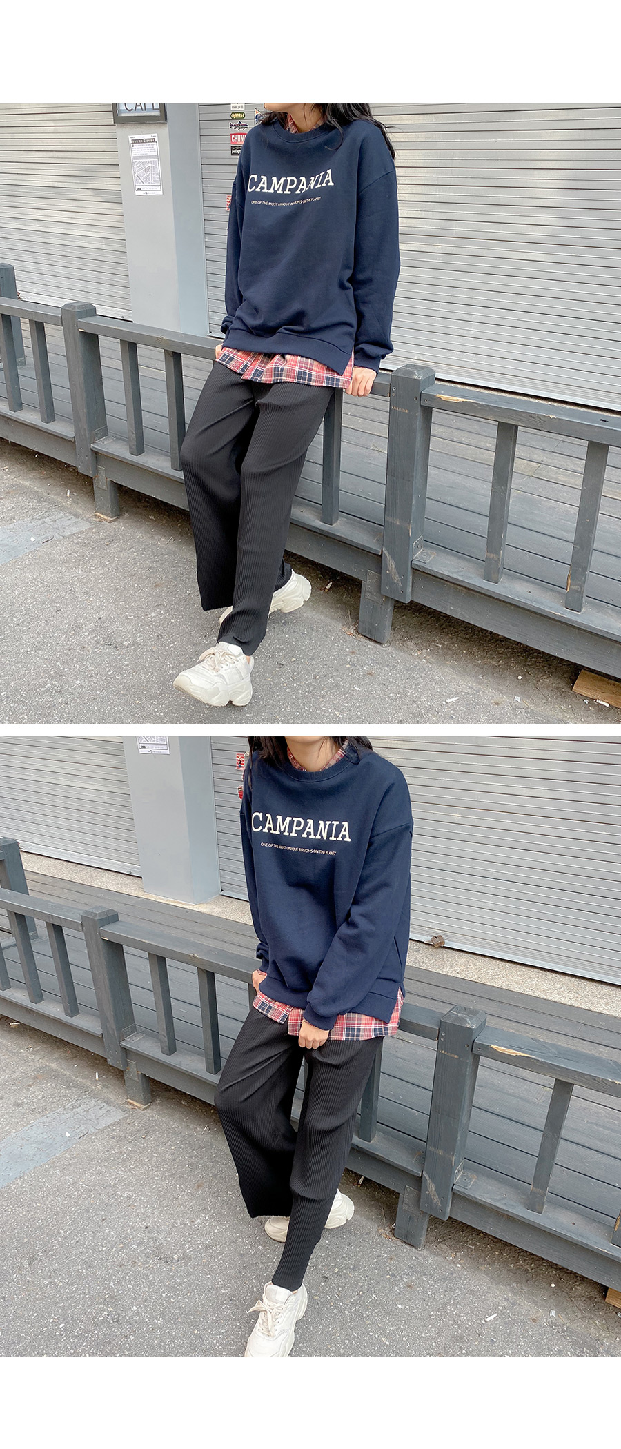 NIA Lettering Overfit sweat shirt