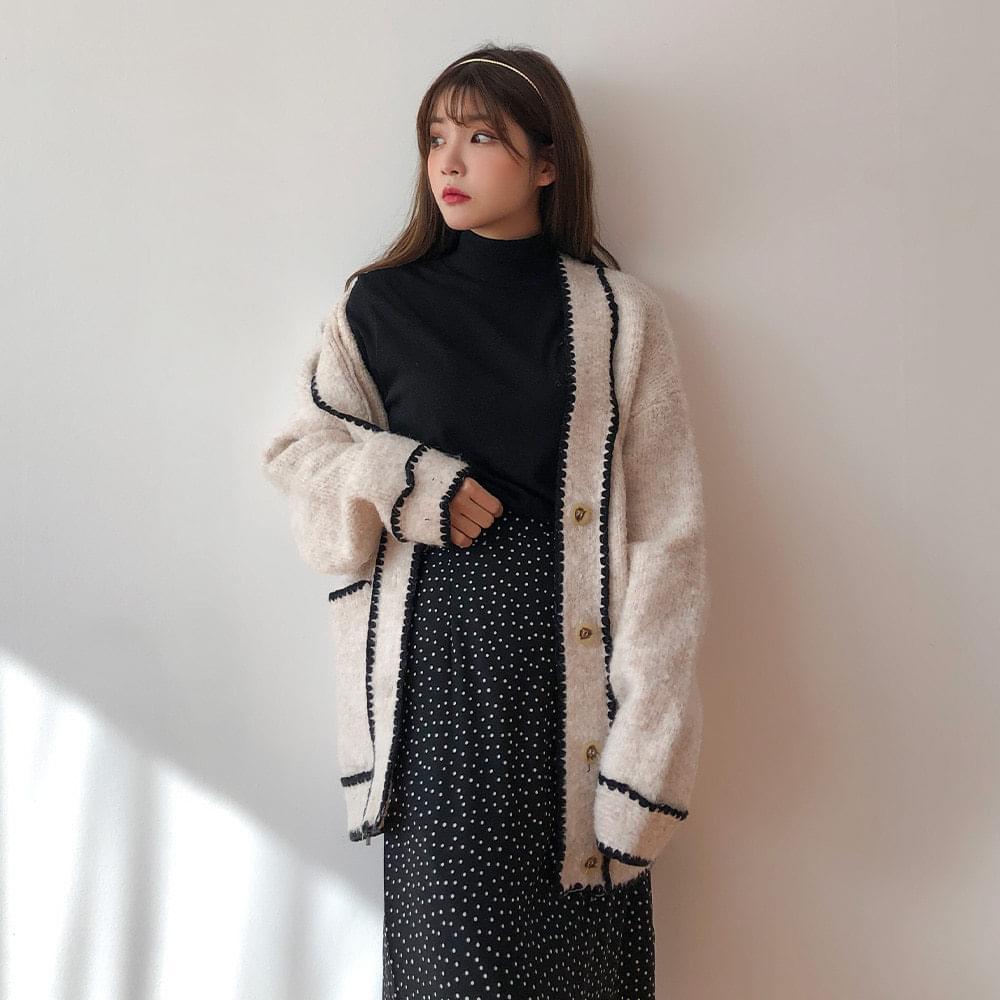 Wool stitch cardigan