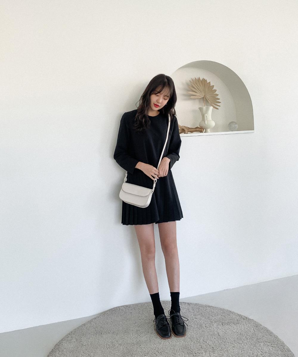 Lovely Pleated Mini Dress