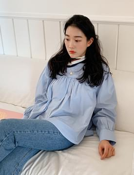 Rain shirring puff blouse_C ブラウス