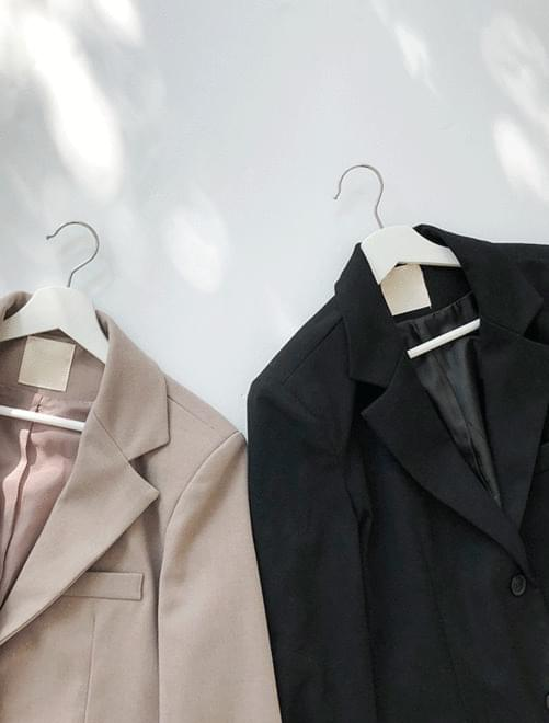 벨트 싱글 자켓 (2color)
