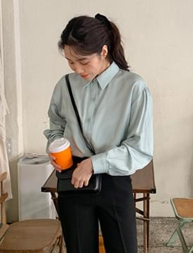 Salt silky collar blouse_C ブラウス