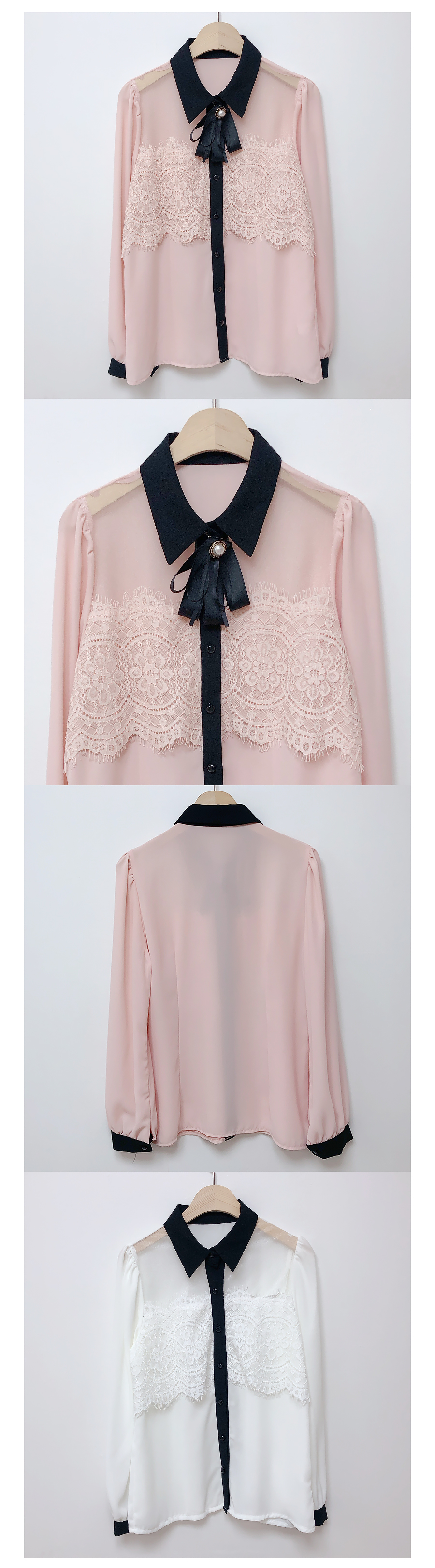 Brooch set Couch lace blouse