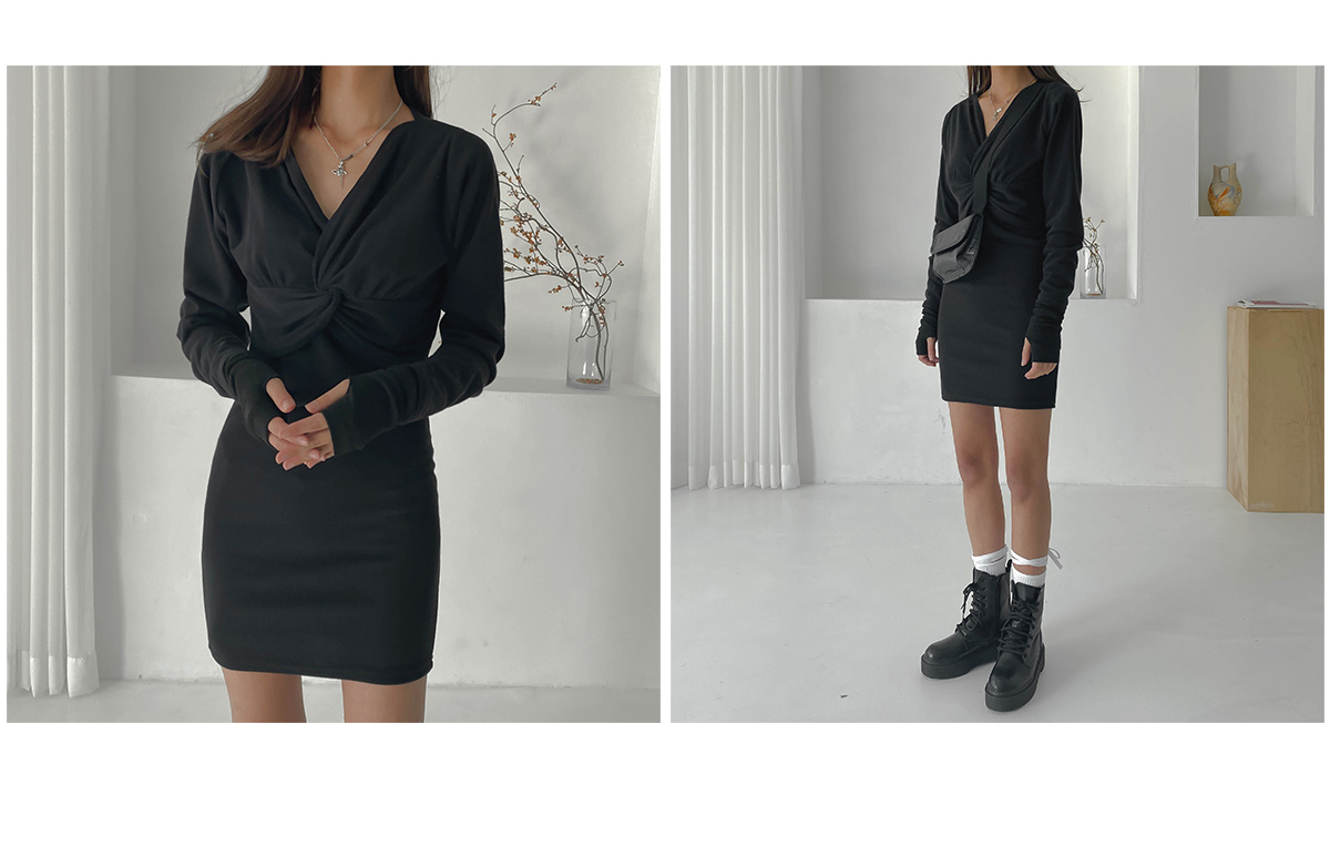 Mini Mute Twist Dress