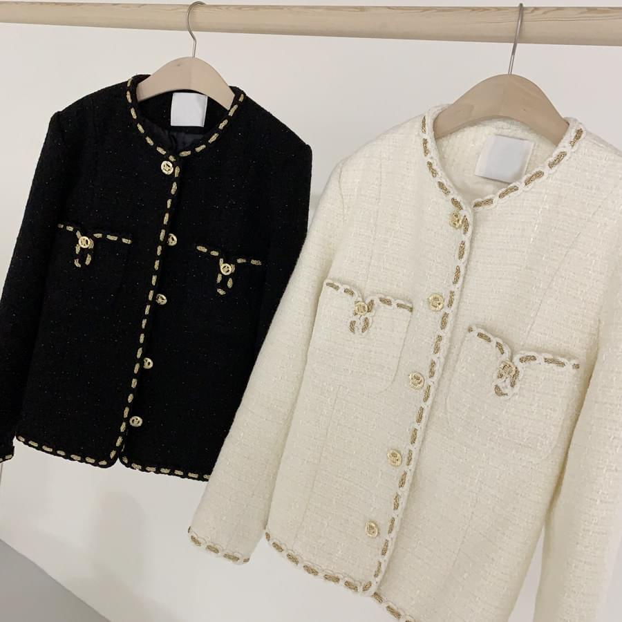 Gold tweed jacket