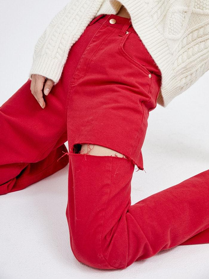 cutting color jeans (3 color) - woman
