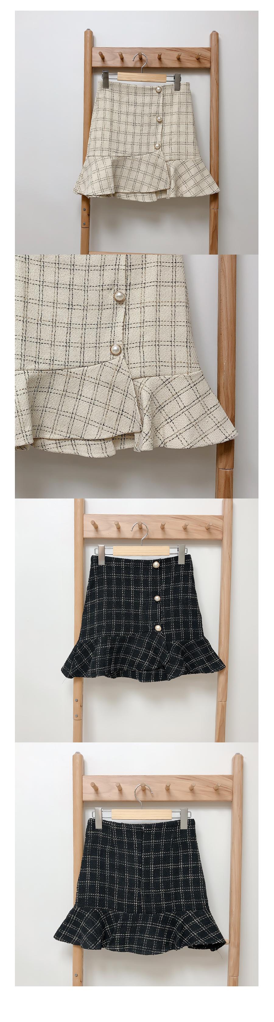 Bunny Pearl Tweed Unfooted Skirt