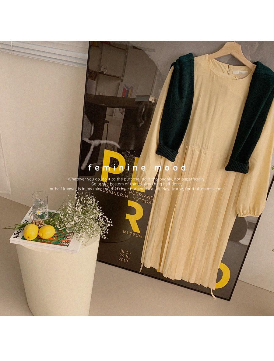 Rio Pleats Long Dress