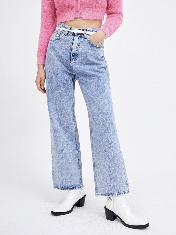 snow wide jeans (2 color) - woman