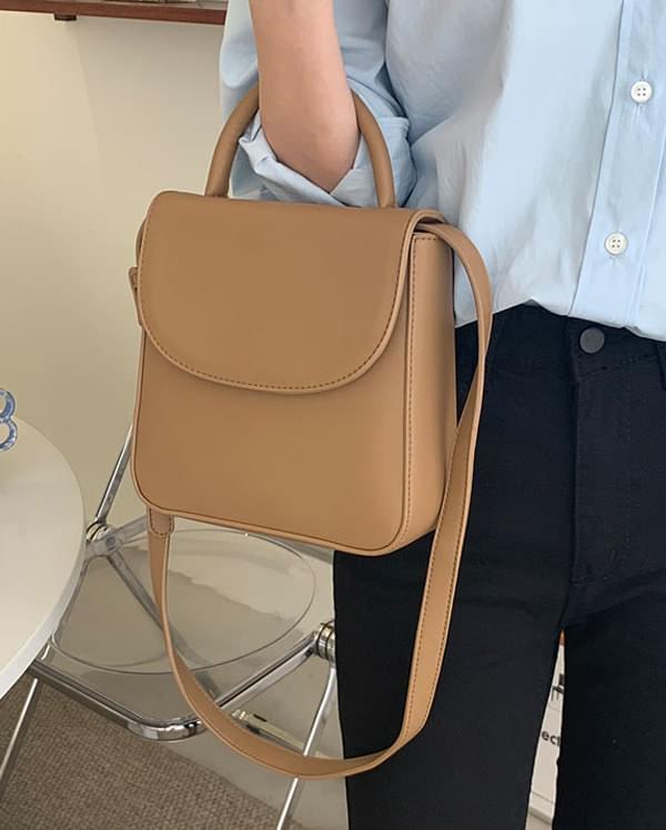 plain two way shoulder bag