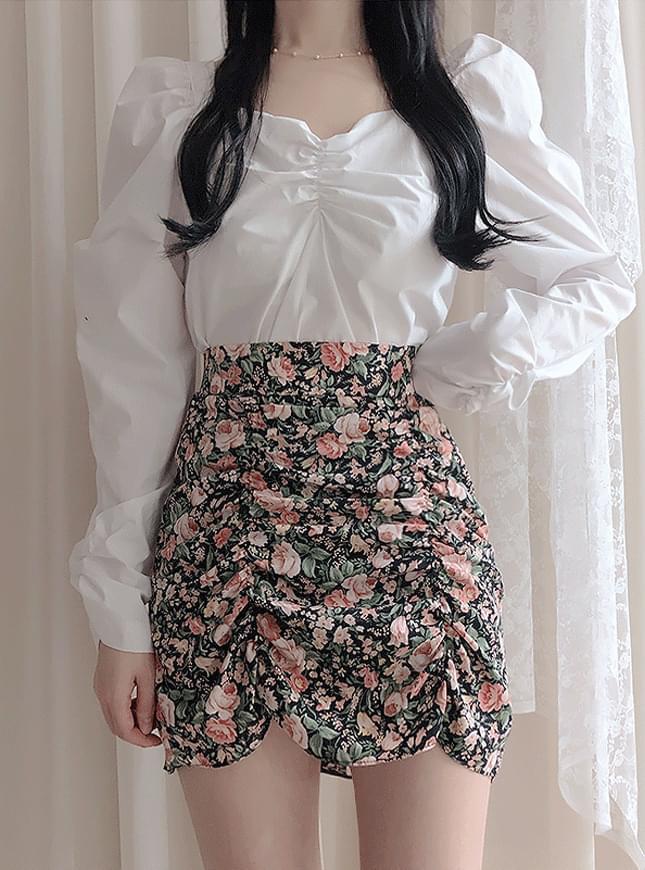 Class flower shearing skirt skirt