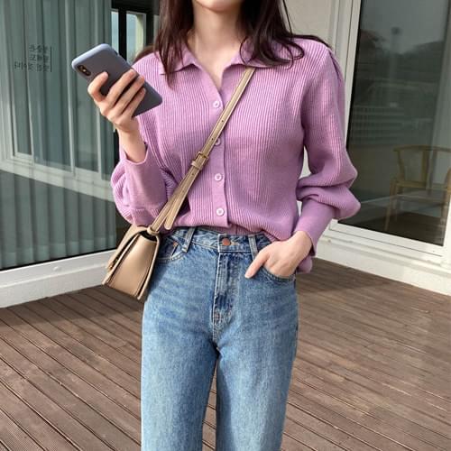 프리티 카라가디건 (울50) (인기상품 배송지연)