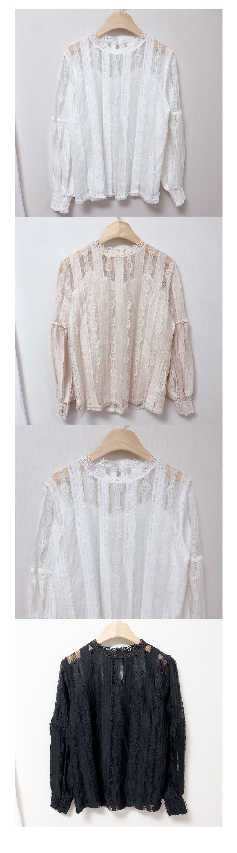 ♥ Embroidery lace blouse