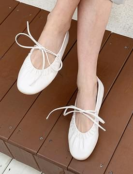 Shirring string flat shoes_C (size : 225,230,235,240,245,250)