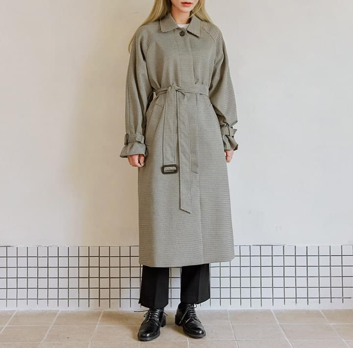 CELLOI HOUND CHECK TRENCH COAT