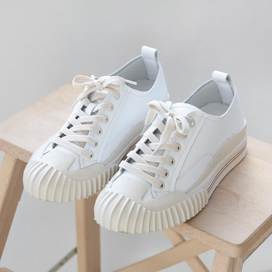Netian leather sneakers 3cm