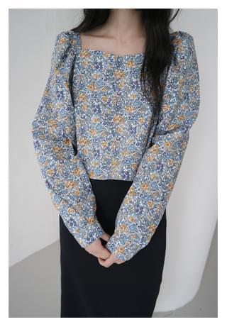 berry flower blouse (2colors)