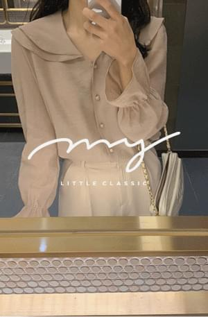 My-littleclassic / Ruffle-sheer chiffon blouse