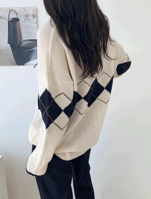 Mono Argyle Knit J